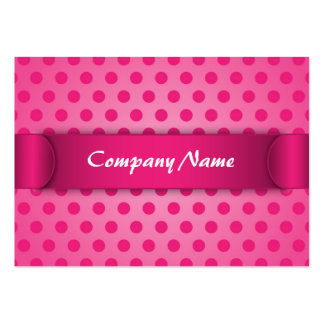 Chubby Business Card Pink Polka Dot