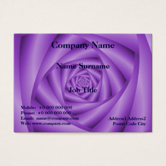 Chubby Business Card  Violet Spiral