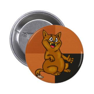 Chubby Cartoon Cat 6 Cm Round Badge