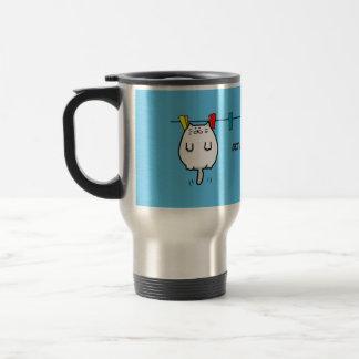 Chubby Cat Get a Good Tan Travel Mug