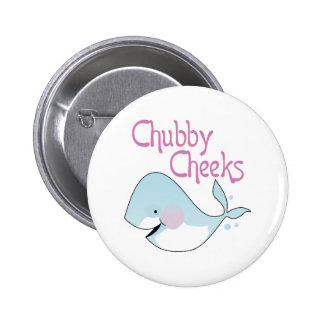 Chubby Cheeks 6 Cm Round Badge