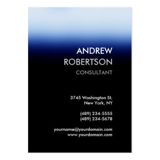 Chubby Dark Blue Black Manager Business Card Pack Of Chubby Business Cards