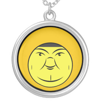 Chubby Face Silver Plated Necklace