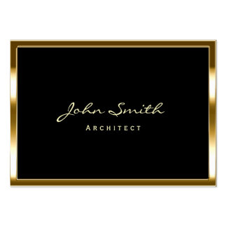 Chubby Gold Border Architect Business Card