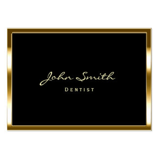 Chubby Gold Border Dentist Business Card