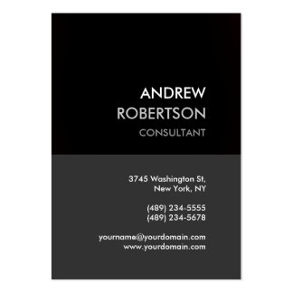 Chubby Gray Black Manager Business Card