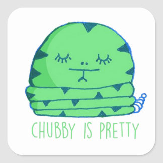 Chubby is pretty square sticker
