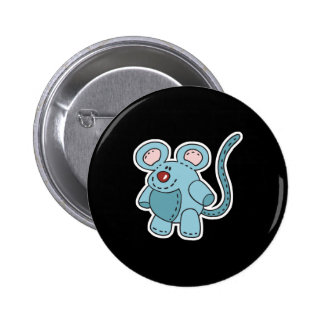 chubby little mouse 6 cm round badge
