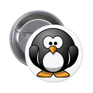 Chubby Penguin 6 Cm Round Badge