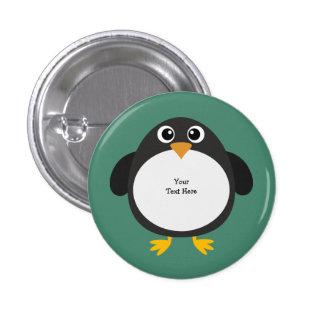 Chubby Penguin (customizable) 3 Cm Round Badge