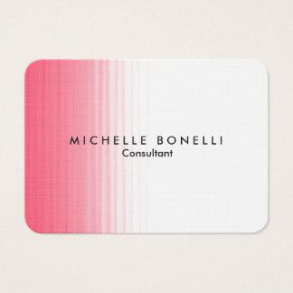 Chubby Pink White Minimalist Feminine Plain Modern Business Card