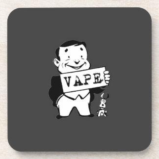 Chubby Retro Man Vape Grey Coaster