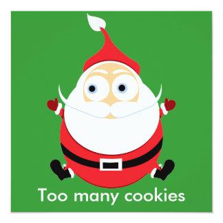 Chubby Santa Christmas Card Xmas Card