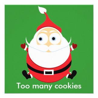 Chubby Santa Christmas Card Xmas Card Invites
