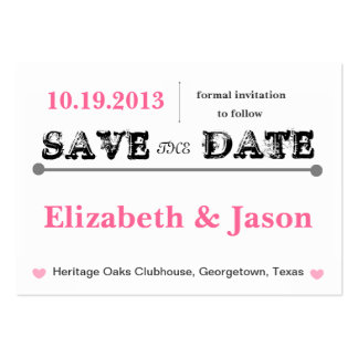 Chubby Save the Date Cards Large Business Cards (Pack Of 100)