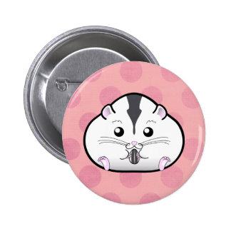 Chubby Semi White Russian Dwarf Hamster 6 Cm Round Badge