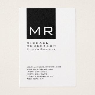 Chubby Stylish Black Monogram Business Card