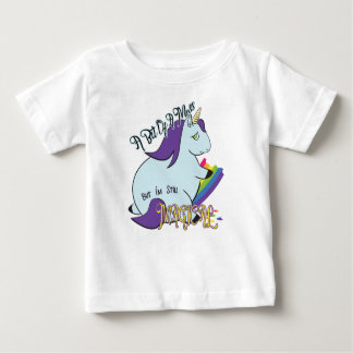 Chubby Unicorn Eating a Rainbow - A Magical Mess Baby T-Shirt