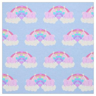 Chubby Unicorn Rainbow Love Fabric