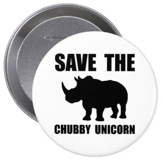 Chubby Unicorn Rhino 10 Cm Round Badge