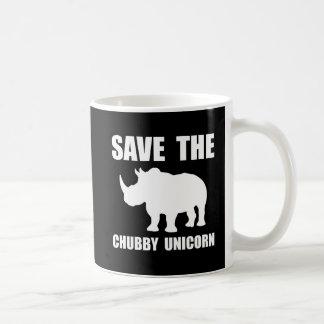 Chubby Unicorn Rhino Basic White Mug