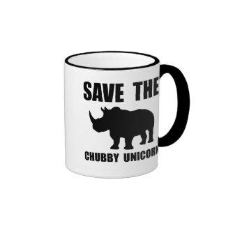 Chubby Unicorn Rhino Ringer Mug