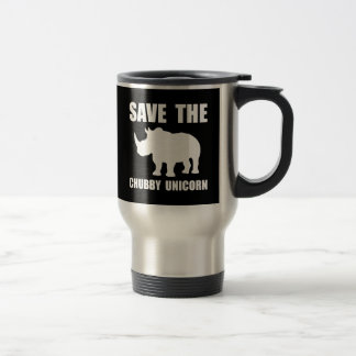 Chubby Unicorn Rhino Stainless Steel Travel Mug