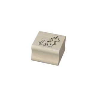 Chubby Unicorn Rubber Stamp