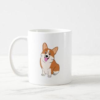 Chubby Welsh Corgi Cartoon Coffee Mug