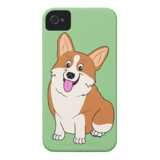 Chubby Welsh Corgi Cartoon iPhone 4 Covers