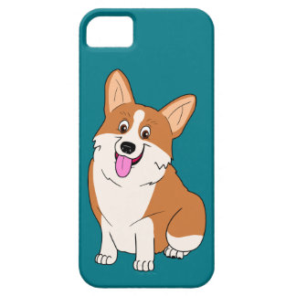 Chubby Welsh Corgi Cartoon iPhone 5 Case