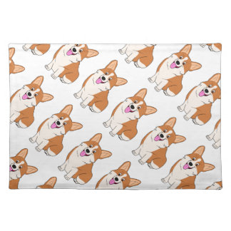 Chubby Welsh Corgi Cartoon Placemat