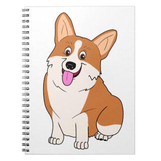 Chubby Welsh Corgi Cartoon Spiral Notebook