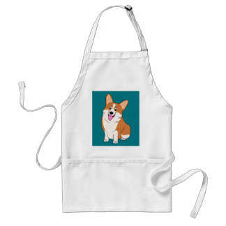Chubby Welsh Corgi Cartoon Standard Apron