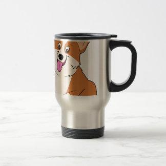 Chubby Welsh Corgi Cartoon Travel Mug
