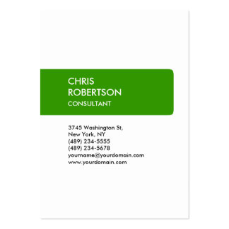 Chubby White Green Unique Special Business Card