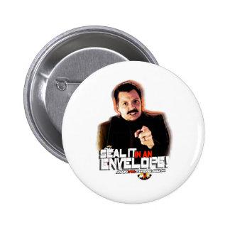 """Chuck Hansen: """"Seal it in an Envelope!"""" 6 Cm Round Badge"""