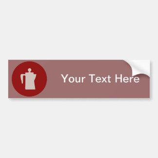 Chuck Wagon Coffee Pot - Cowboy Coffee Time Bumper Sticker