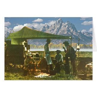 Chuck Wagon in the Mountains Card