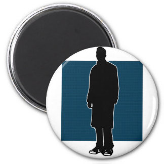 Chucks and a Trenchcoat Part Two 6 Cm Round Magnet