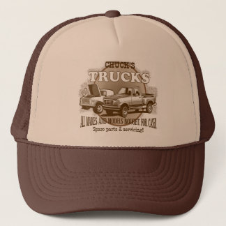 'Chuck's Trucks' Brown and Tan trucker cap