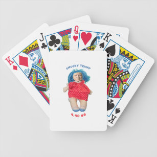 Chucky Donald Trump Doll Bicycle Playing Cards