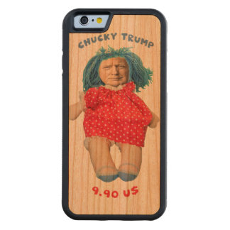 Chucky Donald Trump Doll Carved Cherry iPhone 6 Bumper Case