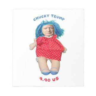 Chucky Donald Trump Doll Notepad