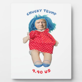 Chucky Donald Trump Doll Plaque