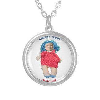 Chucky Donald Trump Doll Silver Plated Necklace