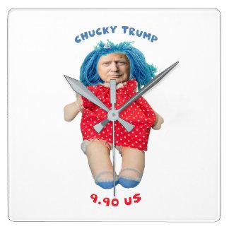 Chucky Donald Trump Doll Square Wall Clock