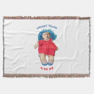 Chucky Donald Trump Doll Throw Blanket