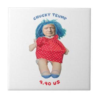 Chucky Donald Trump Doll Tile