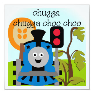 Chugga Choo Choo Train Invitations